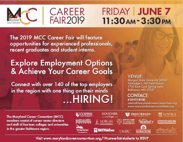 2019 Maryland Career Consortium Fair Friday June 7